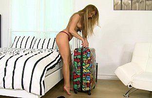 Horny babe invades boyfriend apartment